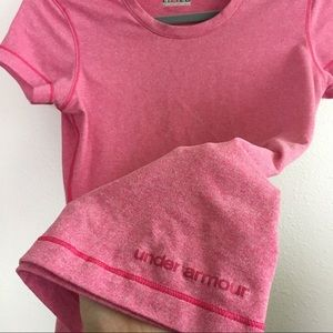 Under Armour Tops - Like new Under Armour pink active T shirt size S